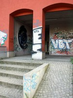 Eingang der c-base Berlin von der Spree aus